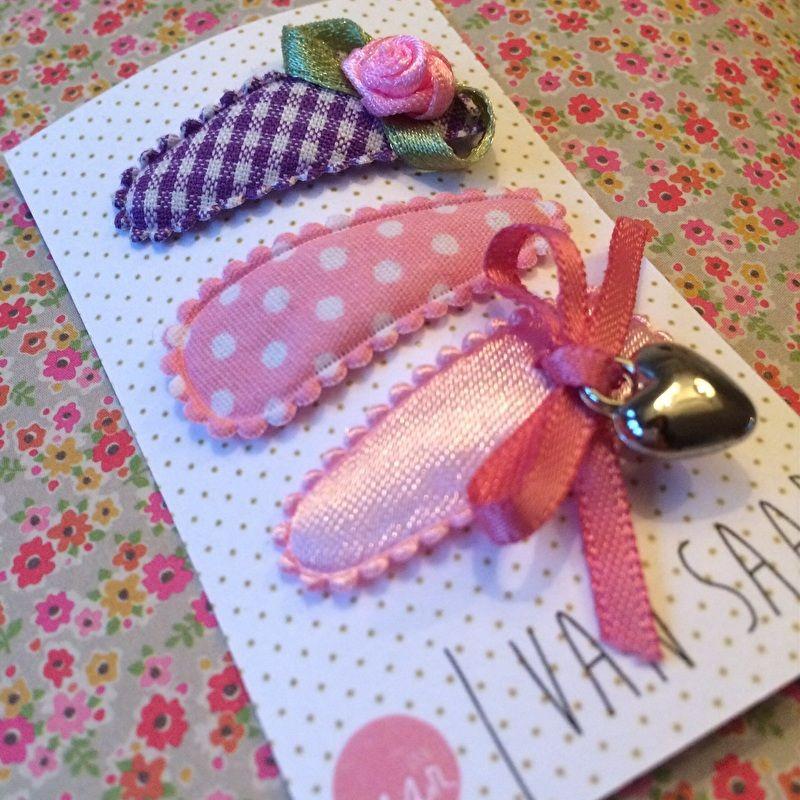 Trio   roze + paars