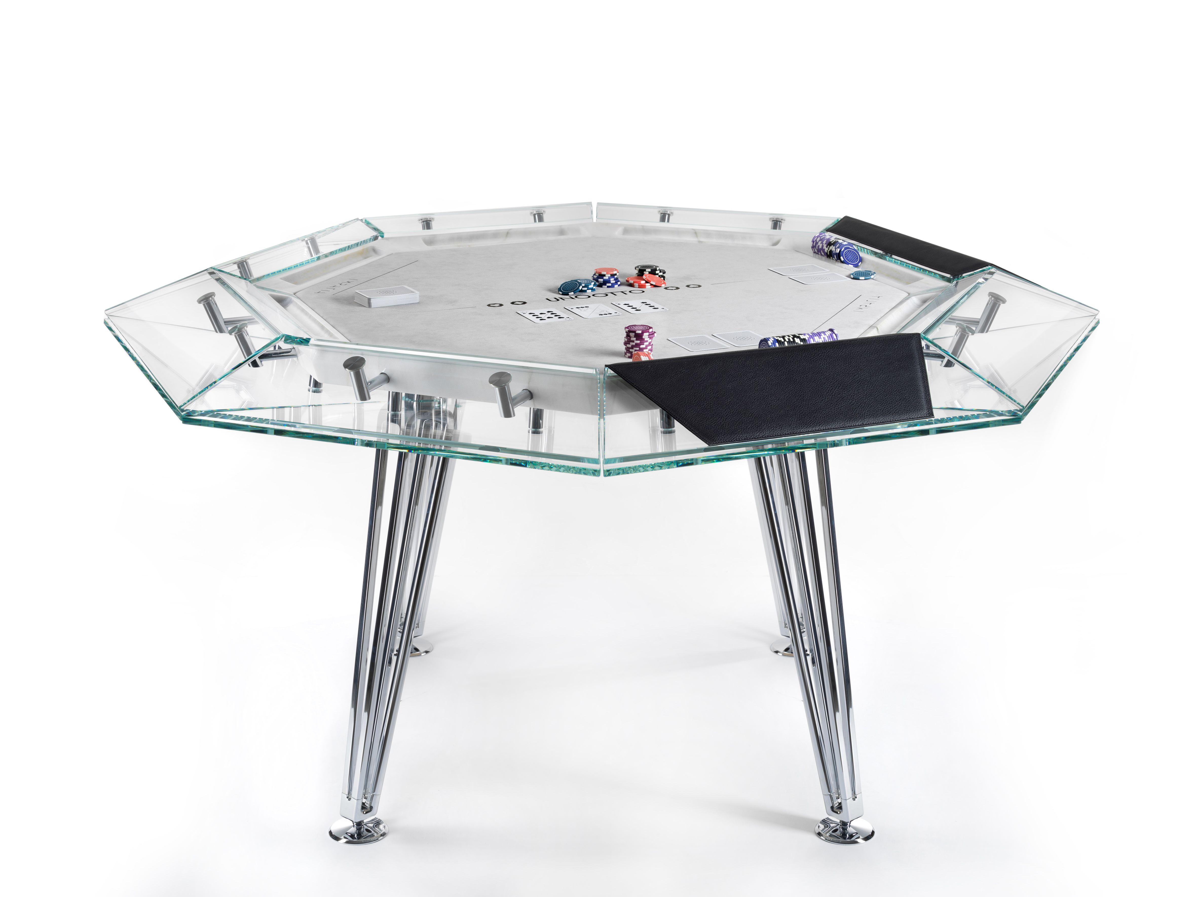 Pleasing Bespoke Poker Table By Impatia Glass Marble Leather Home Remodeling Inspirations Basidirectenergyitoicom