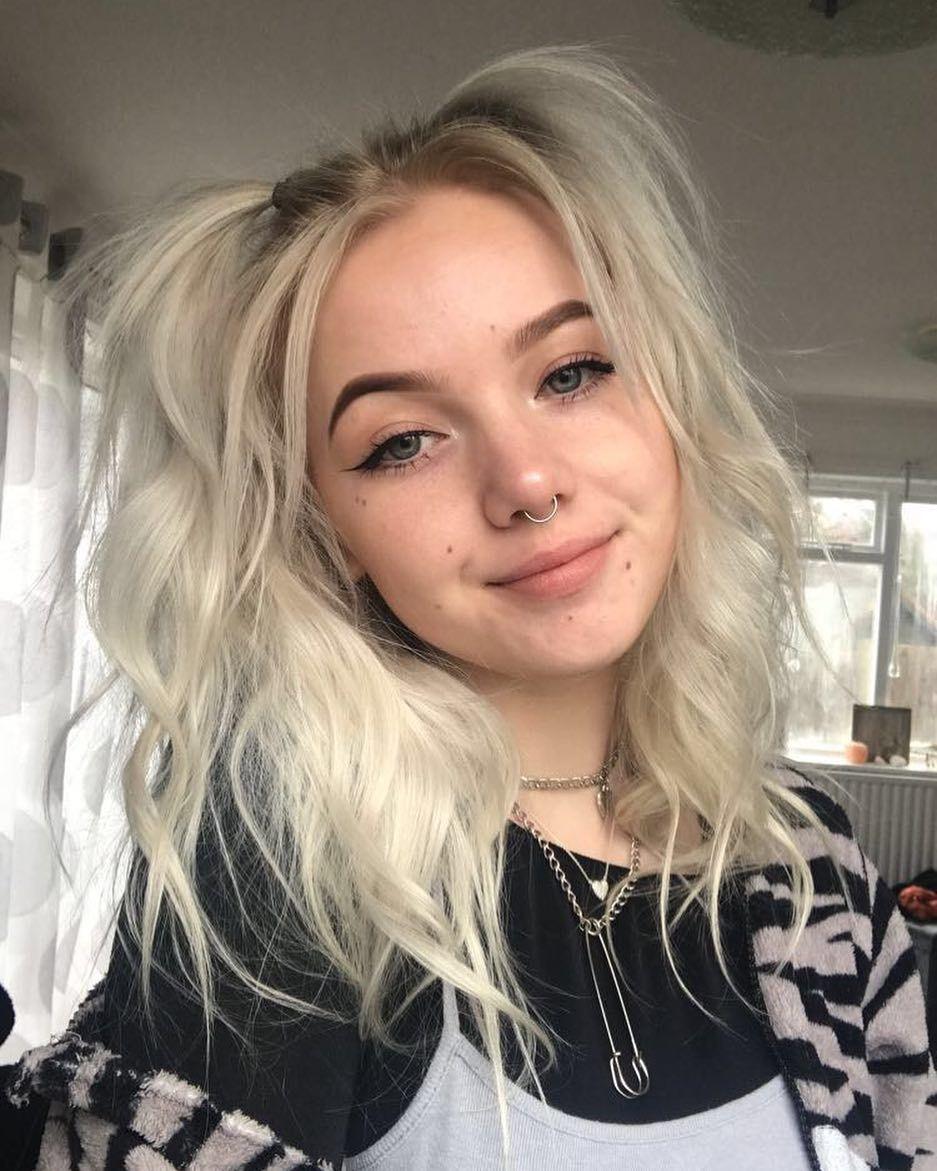 Subscribe To Pewdiepie Bleach Blonde Hair Blonde Goth