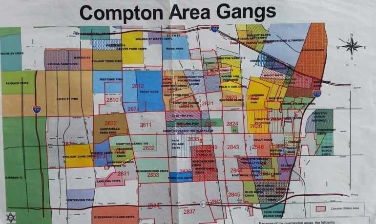 Map Of Compton Area Gangs Compton Graffiti Lettering Compton Crips