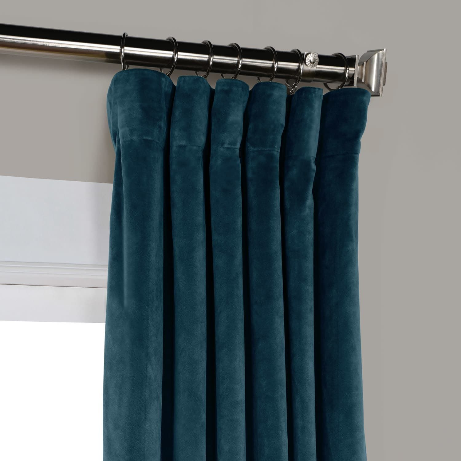 Deep Sea Teal Heritage Plush Velvet Curtain With Images Blue