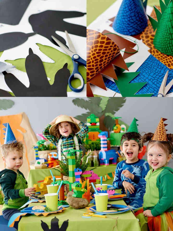 LEGO Family dinosaur Birthday Explorer Party Pinterest