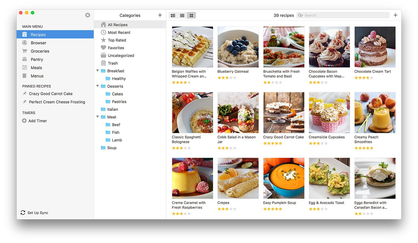 Paprika Recipe Manager for iOS, Mac, Android, and Windows