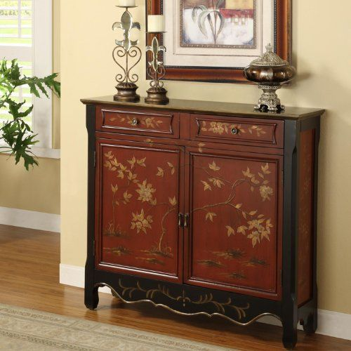 Powell Red Oriental 2door Console You Can Get Additional Details At The Image Link No Powell Furniture Entryway Console Table Round Coffee Table Living Room