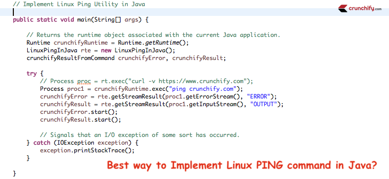 New How To Implement Linux Ping Utility Command In Java Http Crunchify Com How To Implement Linux Ping Utility Comma Creative Web Design Linux Free Blog