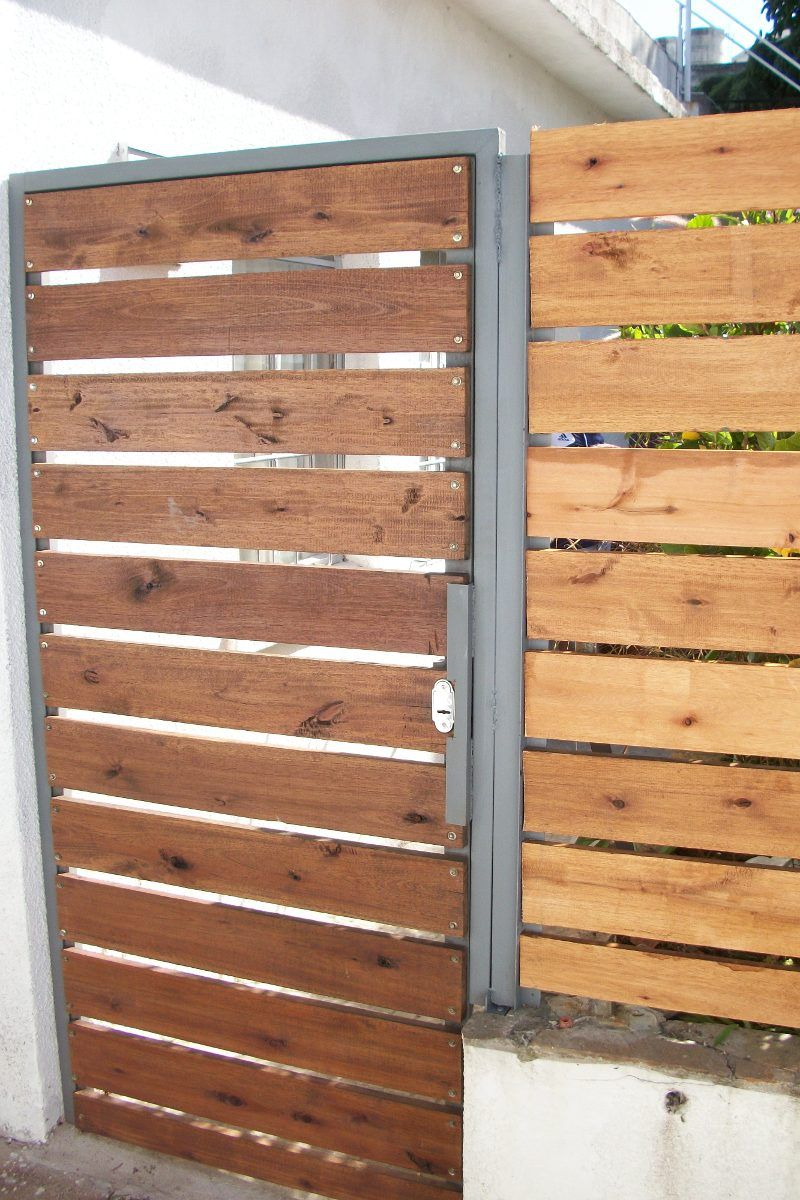 Cerramientos perimetrales madera tejido portones etc for Rejas de madera