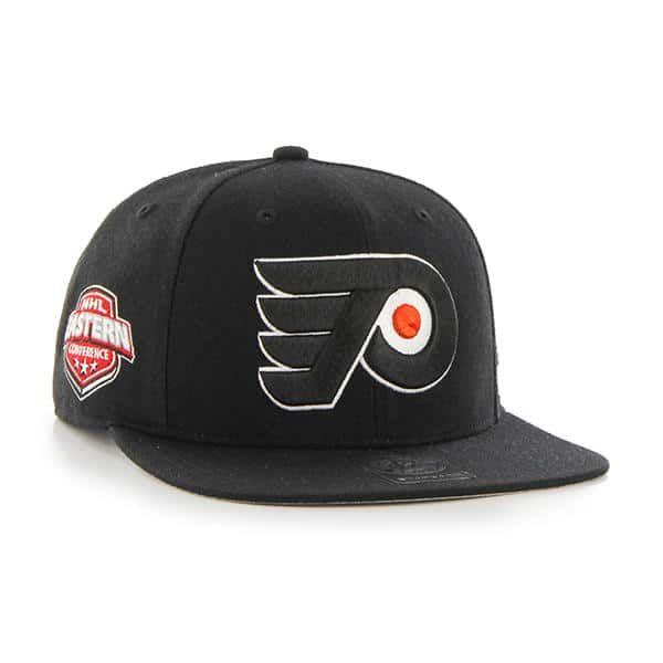 36ee902c Philadelphia Flyers Sure Shot Black 47 Brand Adjustable Hat ...