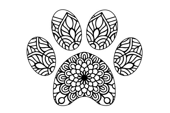 Paw Print Mandala Design T-Shirt