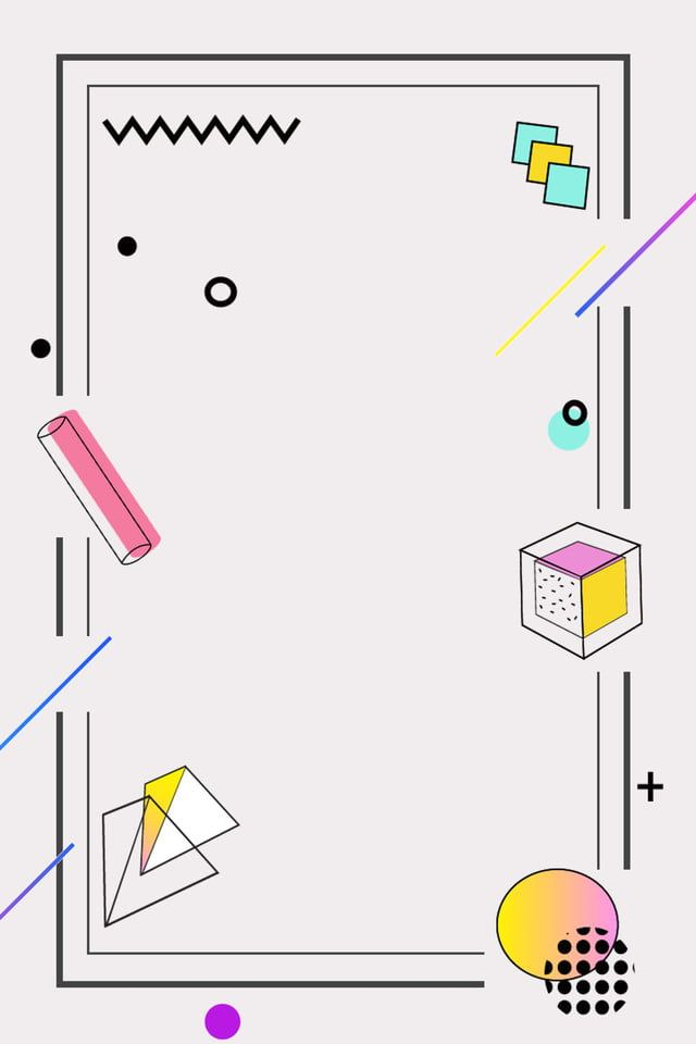 Geometric Minimalistic Lines Border Atmosphere Background Poster