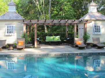 Pool Designs And Landscaping pergola between two buildings timeless elegance - traditional