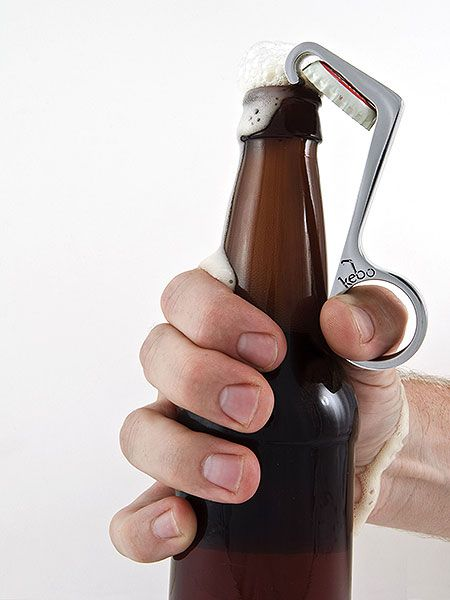 One handed bottle opener... Now you can finish one off while simutaneoulsy opening your next!