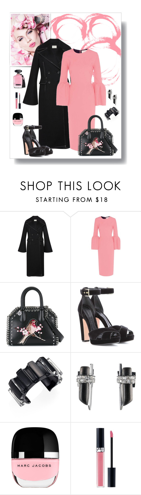 """""""Stella McCartney Falabella Box Bird Bag Look"""" by romaboots-1 ❤ liked on Polyvore featuring Beaufille, Roksanda, STELLA McCARTNEY, Alexander McQueen, Victoria's Secret, Alexis Bittar, Marc Jacobs and Christian Dior"""