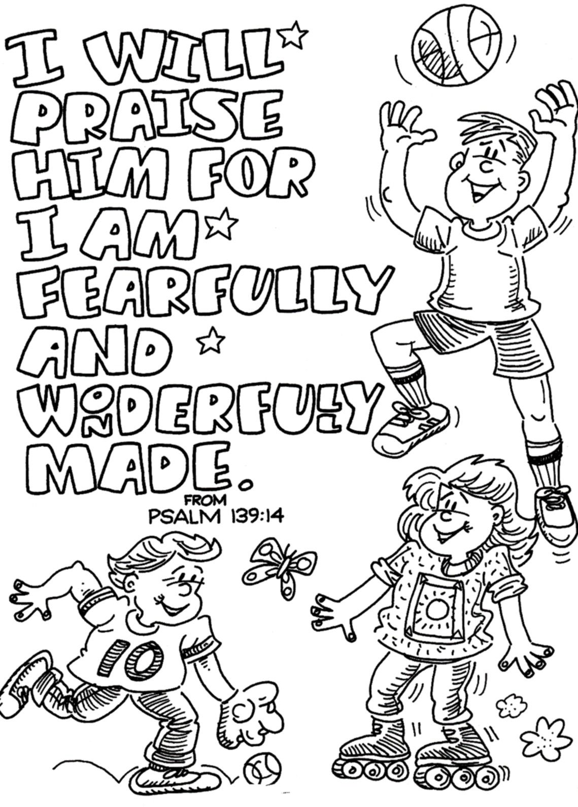faith coloring page to print I will Praise Him
