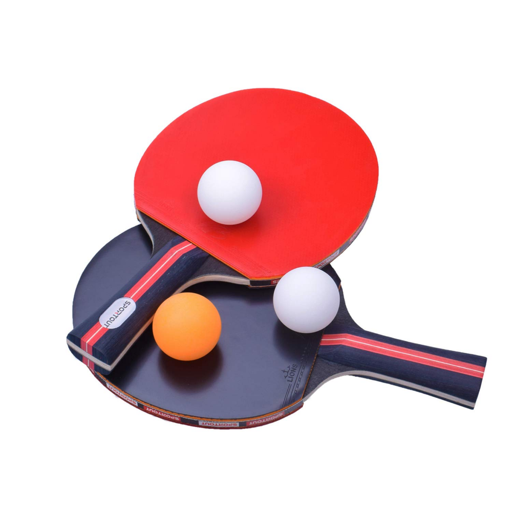 Amazon Com Sportout Table Tennis Racket Ping Pong Paddle Set With 2 Bats And 3 Ping Pong Balls And Table Tenn Table Tennis Racket Table Tennis Tennis Racket