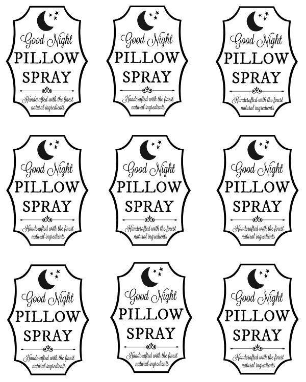 diy pillow spray recipe with printable