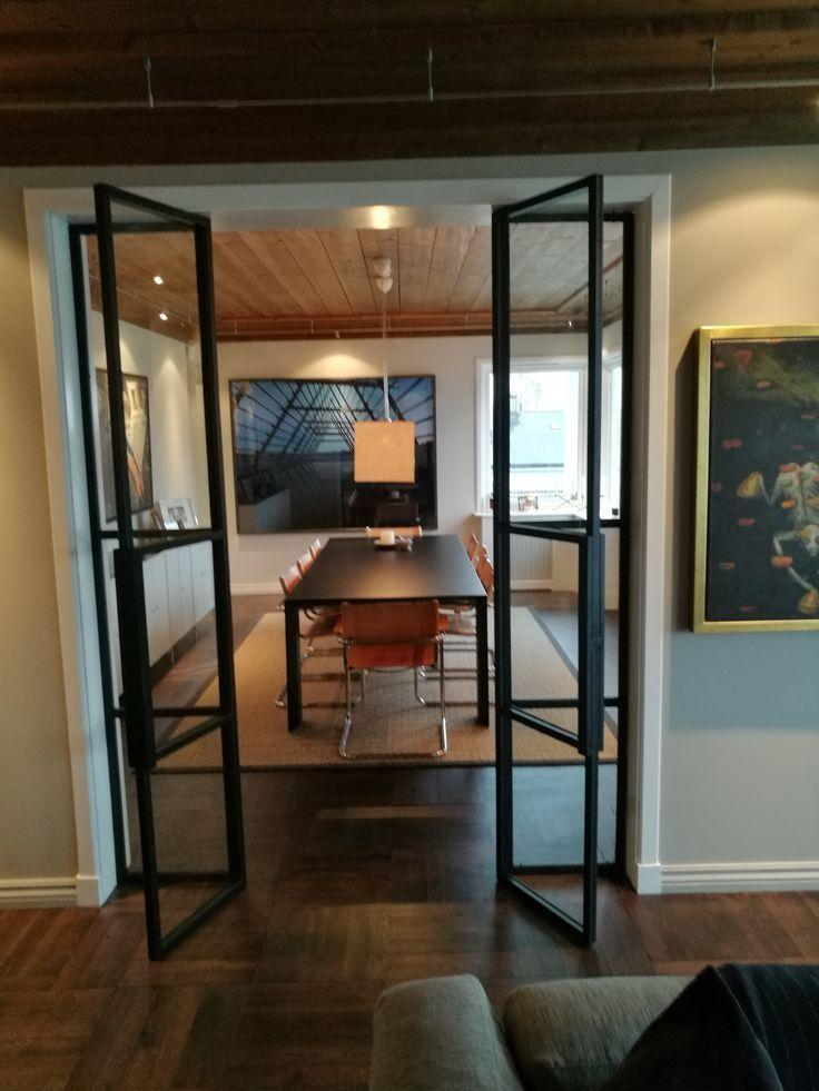 Iron / metal door with glass, wrought iron door with glass, metal door …