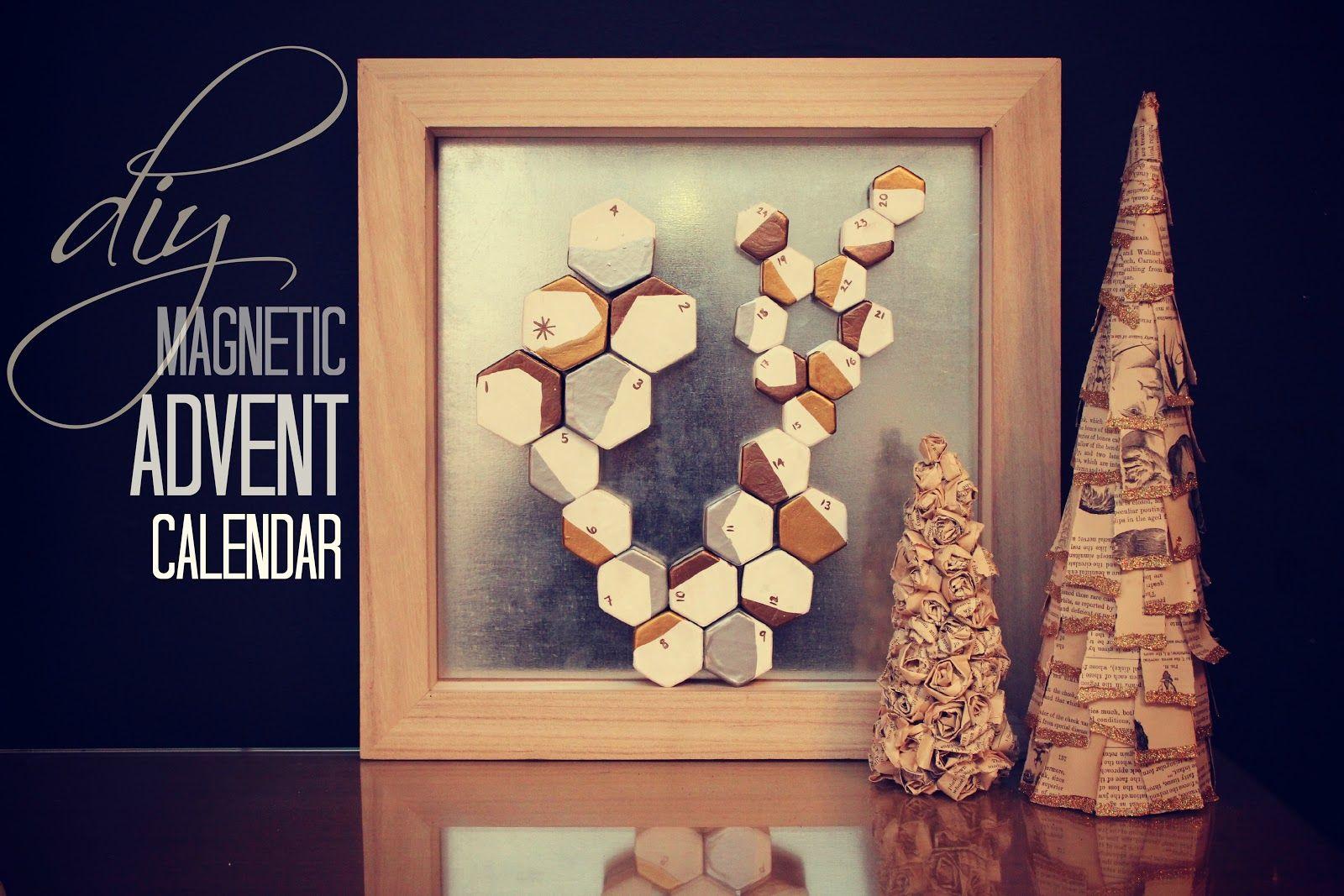 craft magnetic advent calendar. Black Bedroom Furniture Sets. Home Design Ideas
