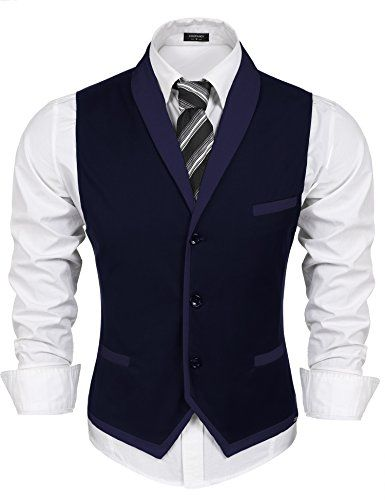 f37bd92a2 Coofandy Men s V-neck Sleeveless Slim Fit Vest
