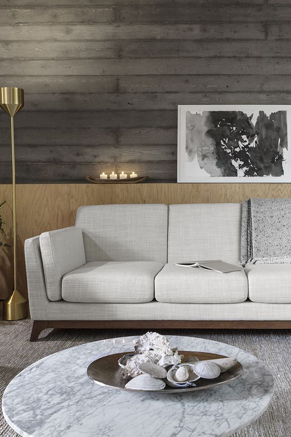 White fabric couch 3 seater solid wood legs article ceni modern furniture