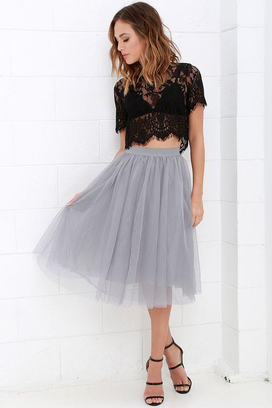 Urban Fairy Tale Grey Tulle Skirt at Lulus.com! e0a101c2ab41