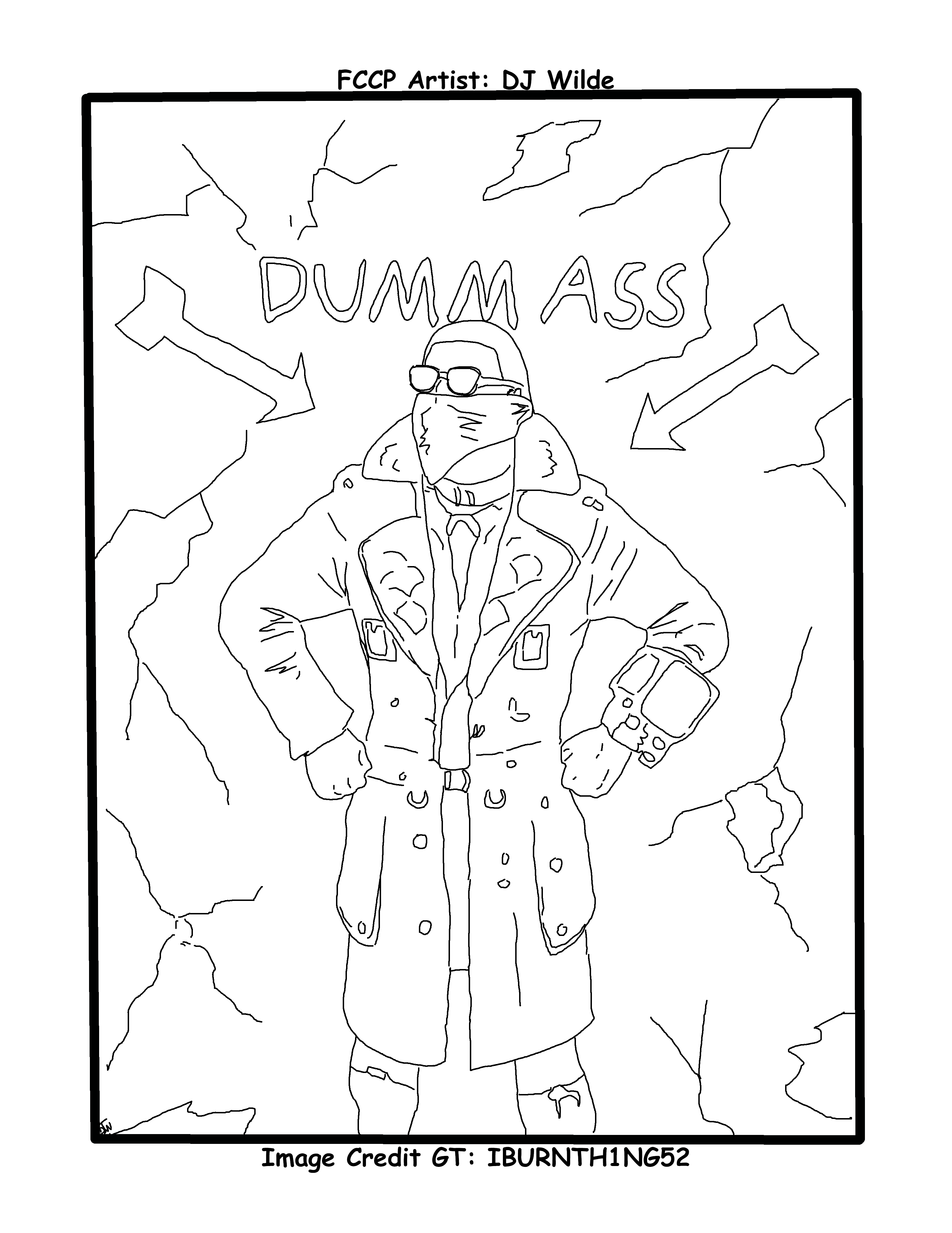 Fallout 76 Dummass Coloring Page Coloring Pages Fallout Color [ 4400 x 3400 Pixel ]