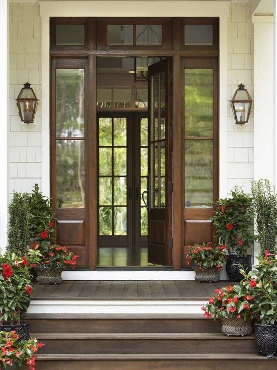 Front Door Traditional Colonial Homes Exterior Design