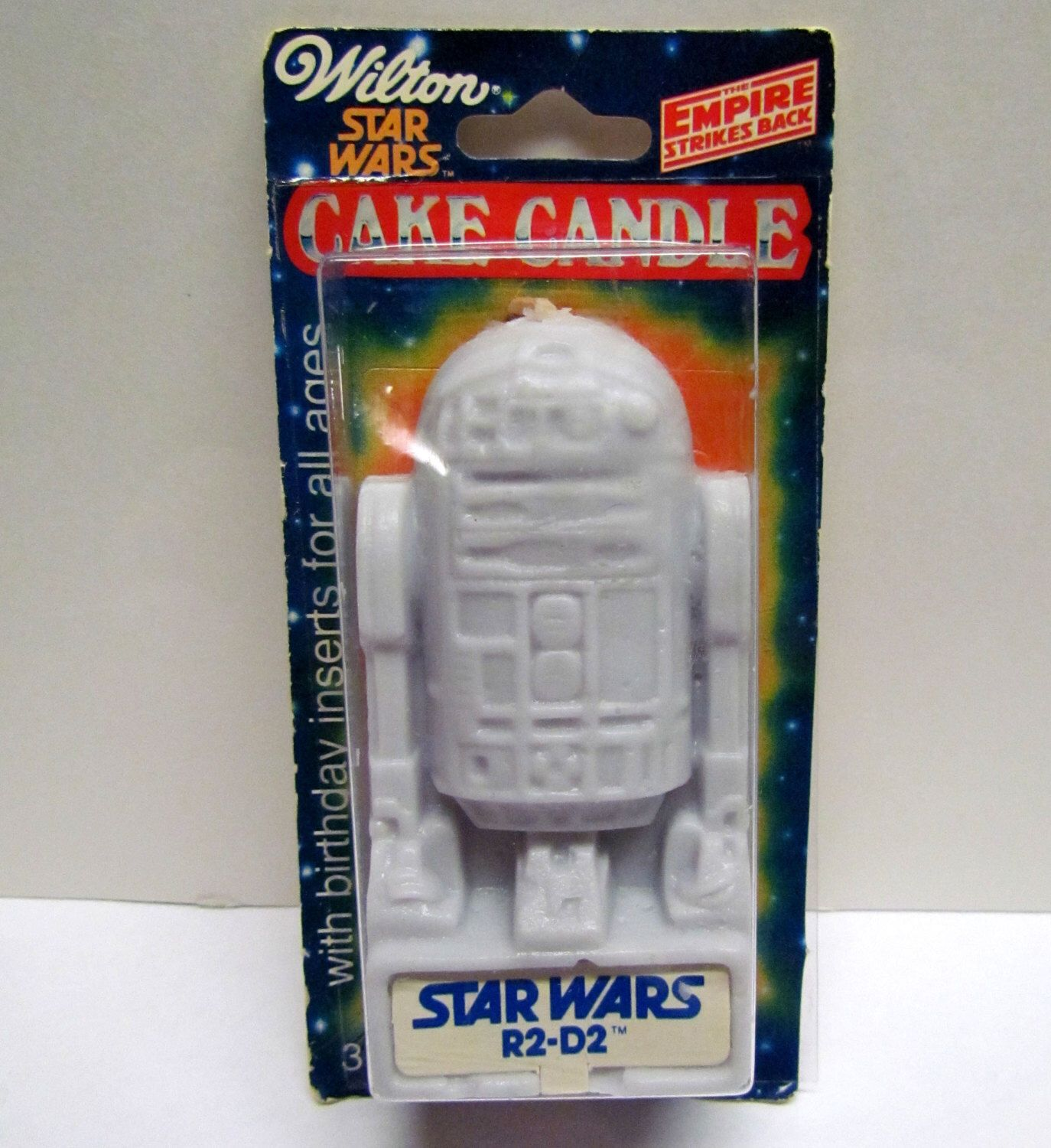 Vintage Star Wars R2D2 Cake Candle still sealed in its