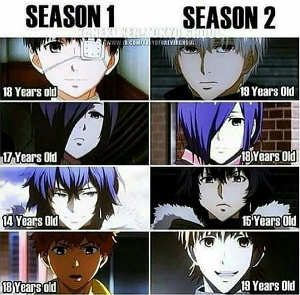 Age Differences In Season 1 And 2
