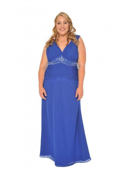 Abendkleid mit Paillettenverzierung, XXL, Farbe blau - Abendkleider ...