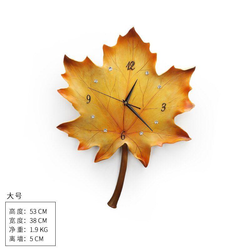 #creative #luxury #wall #clock #silent #set #nordic #leaf #clocks #living #room #watch #art #decoration #relogio #parede #gift #sc651 #home #decor