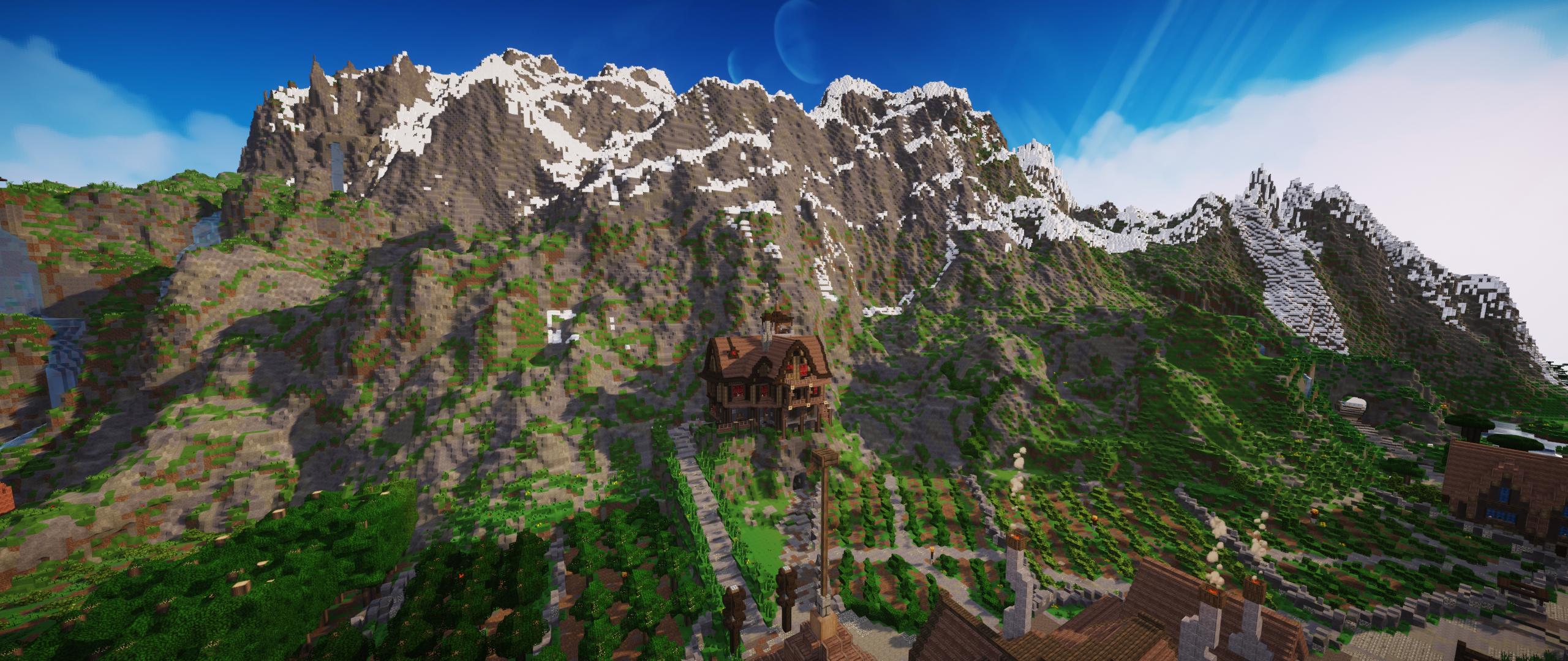 My Minecraft mountain range