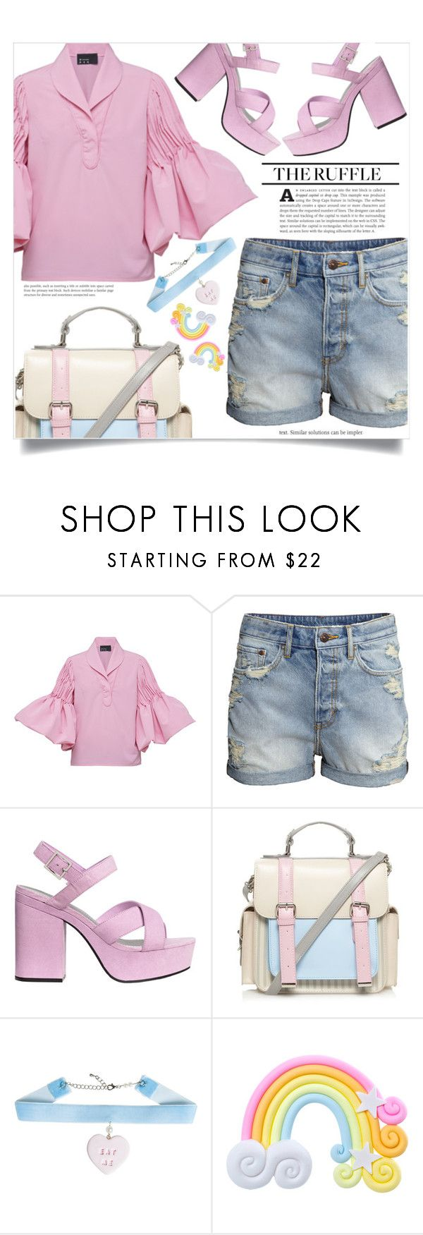 """All Ruffled Up"" by dolly-valkyrie ❤ liked on Polyvore featuring N-DUO, H&M, Barneys New York, H! by Henry Holland, Rad+Refined and ruffles"