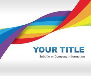 free rainbow dna powerpoint template is an original slide design, Modern powerpoint