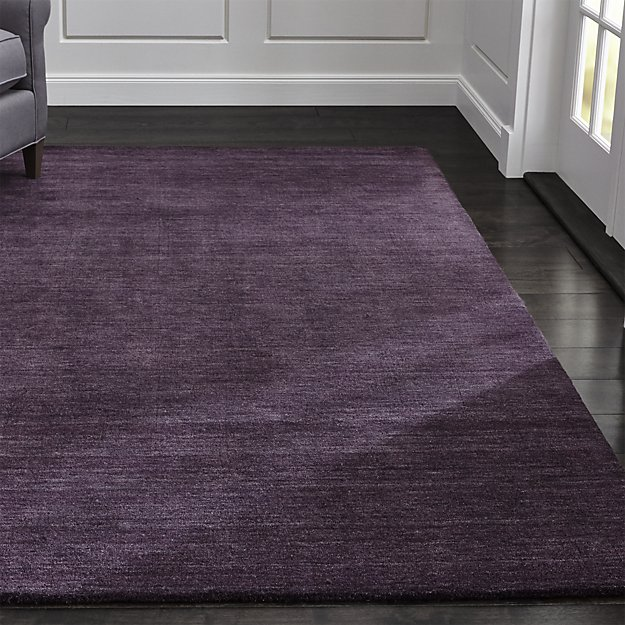 Baxter Navy Blue Wool Rug | Crate and Barrel in 2019 | Plum ...