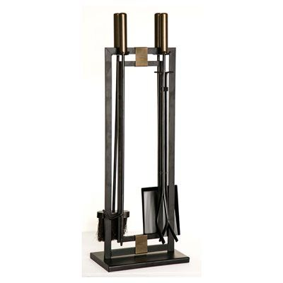 style selections 4-piece steel fireplace tool set | blacksmith ...
