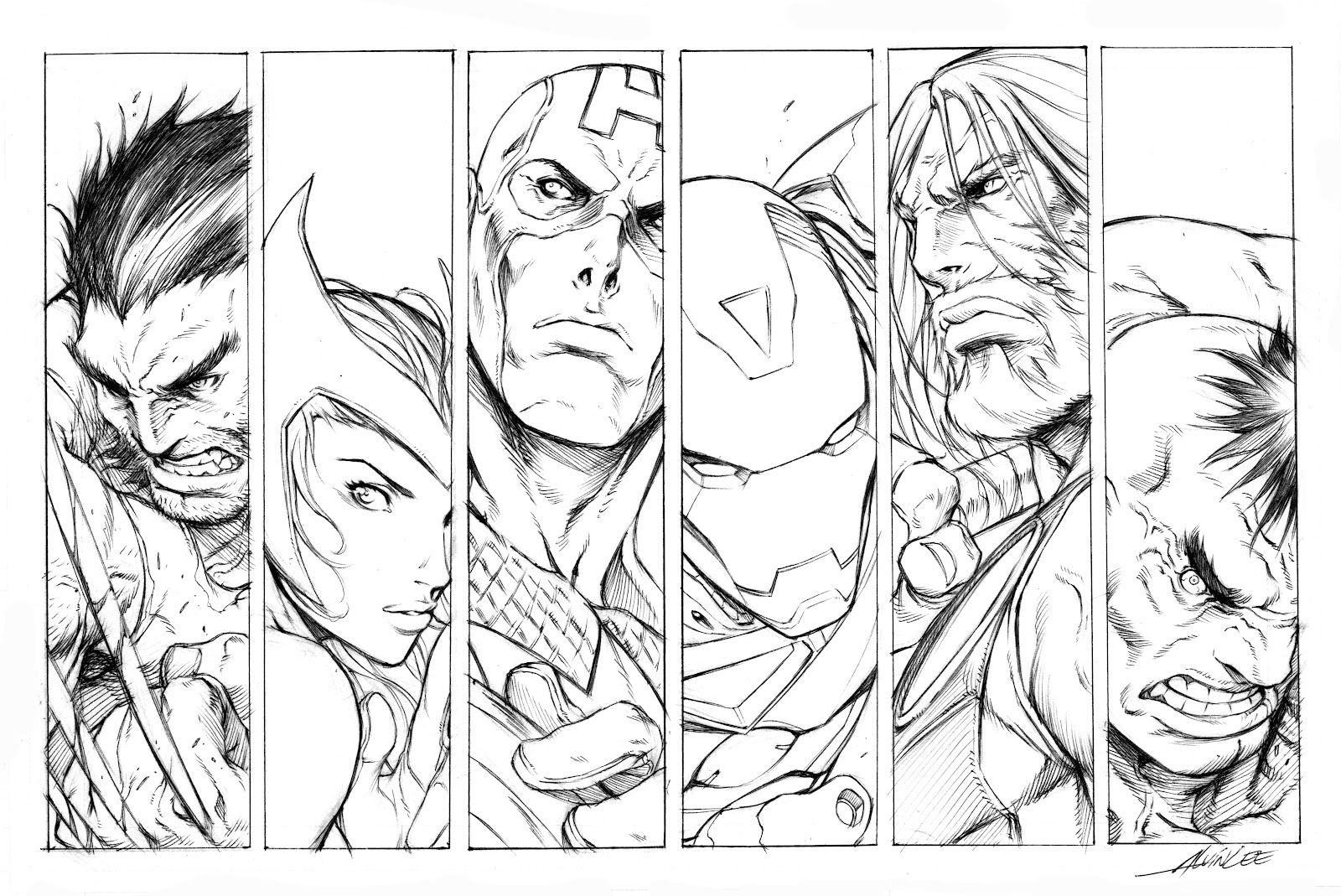 Ultimate Avengers Coloring Pages Bing Images Com Imagens