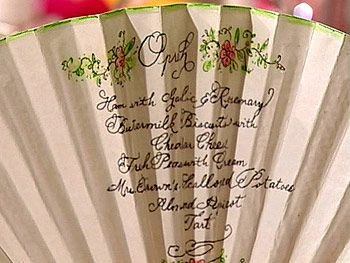 Fans will help your guests keep their cool and get a peek at the menu.