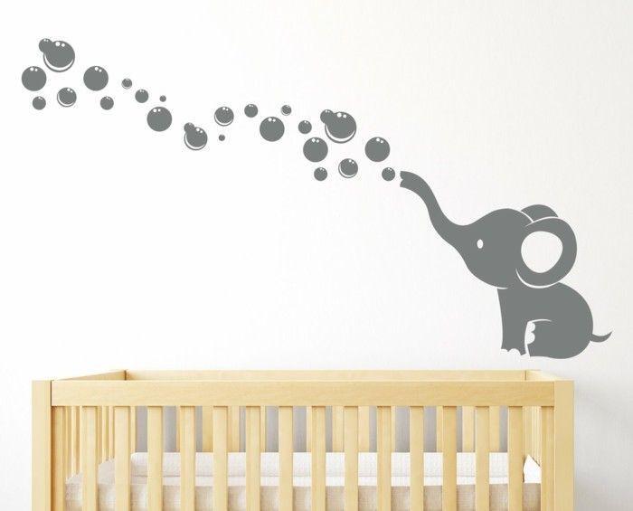 Elefanten-sind-immer-eine-gute-Idee-für-Wandtattoo-für-Kinderzimmer-gewesen   - Einrichtungsideen -...
