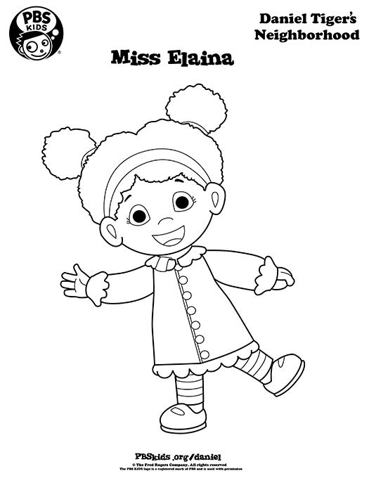 Print Color Daniel Tiger S Neighborhood Pbs Kids Sesame