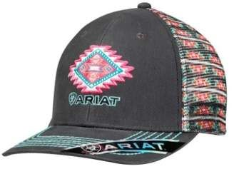 Ariat Western Hat Womens Baseball Snap Back One Size Gray 1506906  hat   womens 80aeacb4f92