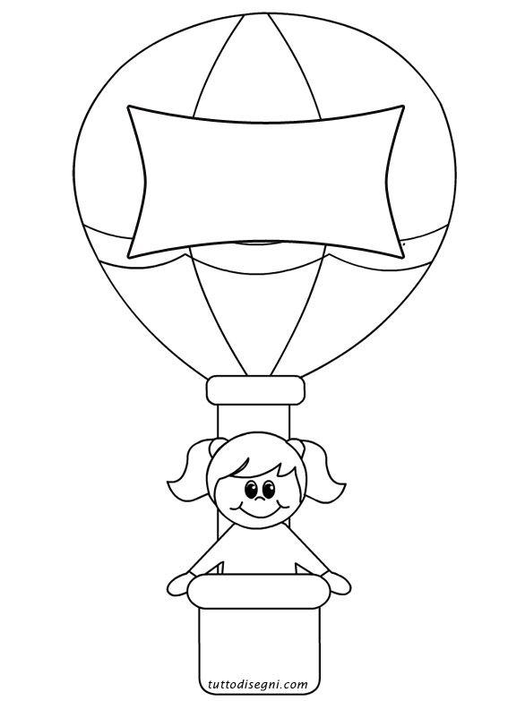 bambina mongolfiera disegni bambini faaliyet