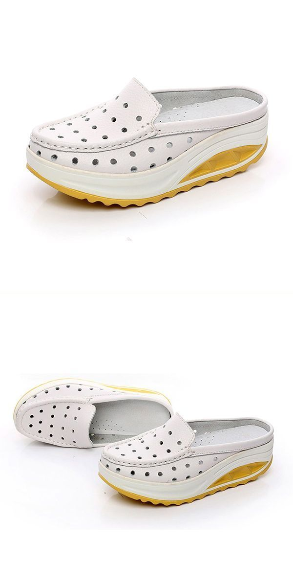 Women hollow out sandals flat outdoor soft beach slippers big 5 ...