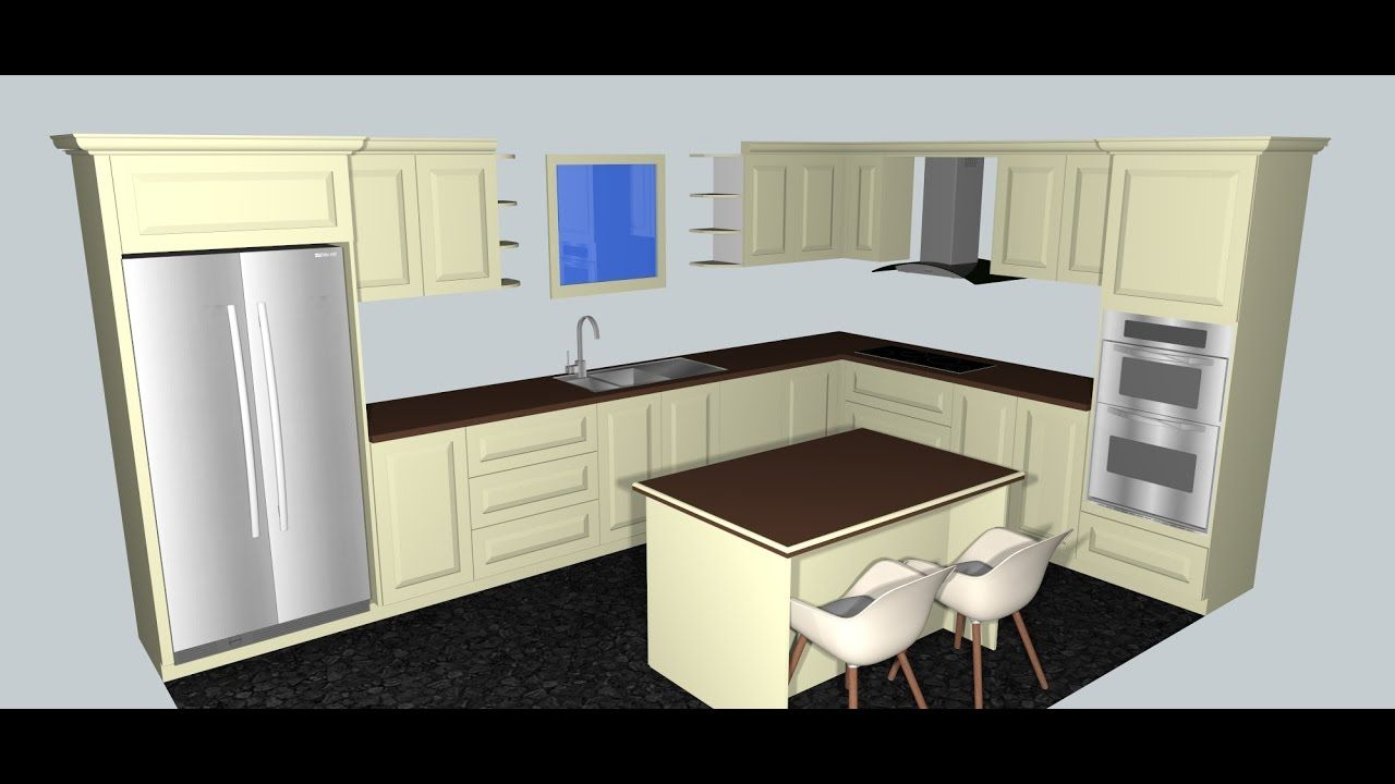 Kitchen Design In Sketchup 1 Kitchen Ornaments Ideas 79655861 New Home Kitchen Design Id Kitchen Design Decor Custom Kitchens Design Kitchen Design Software
