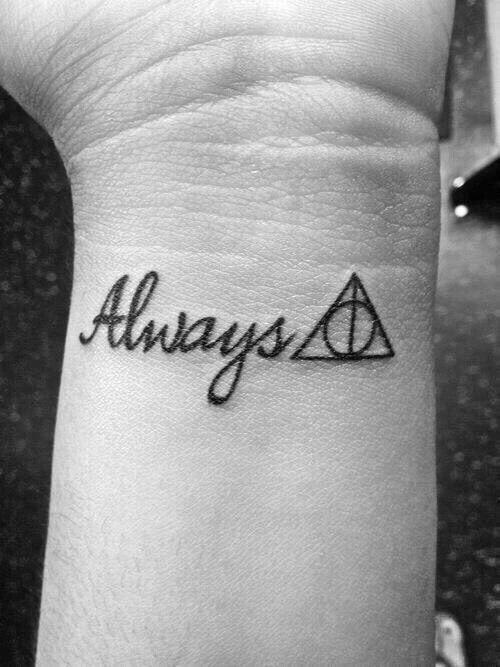 #HarryPotter #tattoo #Always #DeathlyHallows