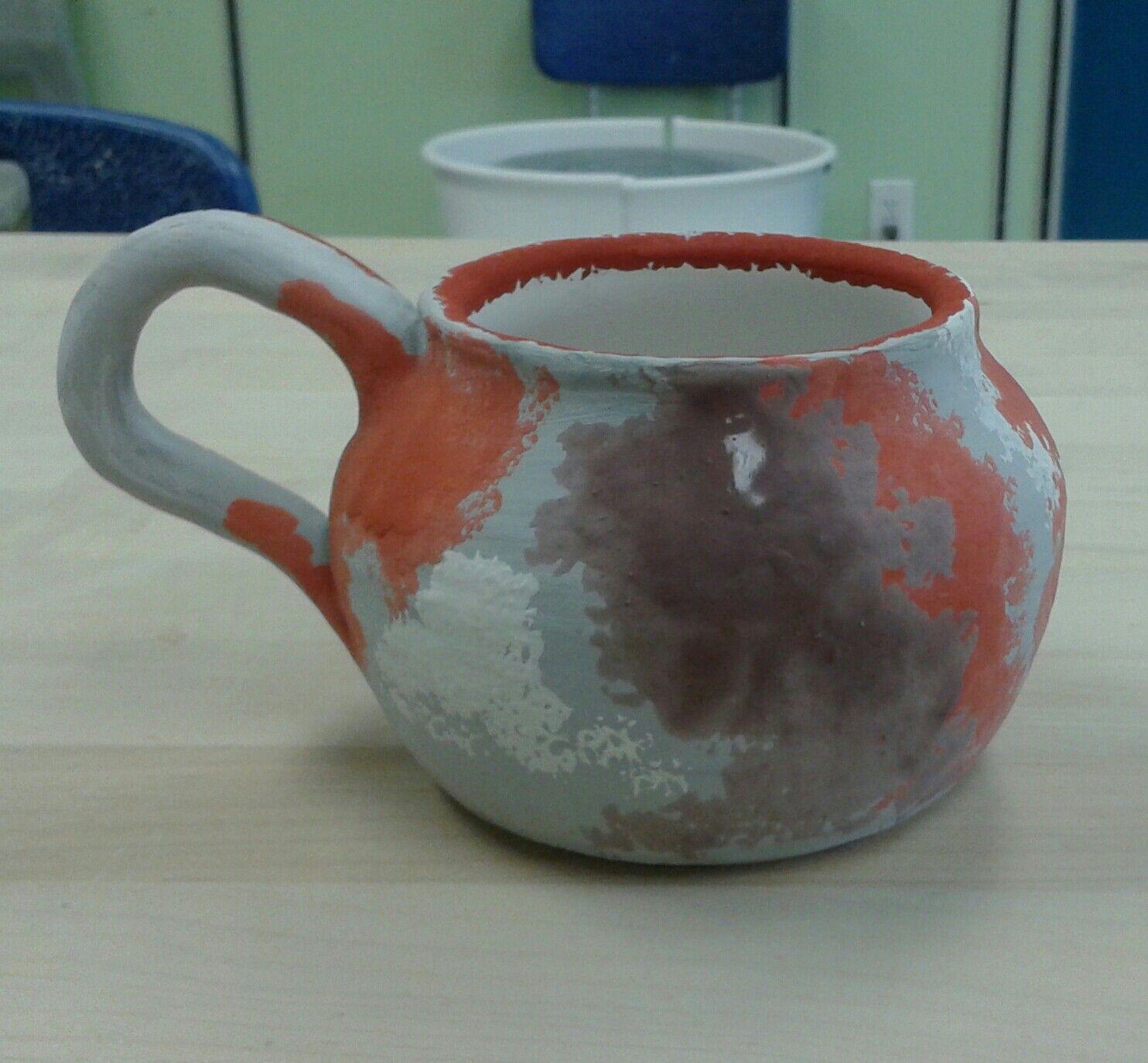 Kelcy Clark Galaxy Mug Before Glaze Firing Well Hopefully It S A Galaxy Mug Fingers Crossed Amaco Potter Glazes For Pottery Amaco Glazes Glaze Ceramics