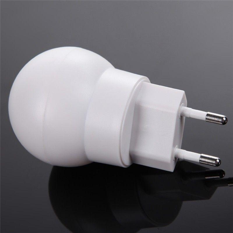 110v 220v 360 Degree Rotating Eu Plug Led Night Light Sensor Smart