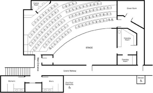 Black Box Theater Floor Plan Theatre Rental Diversionary