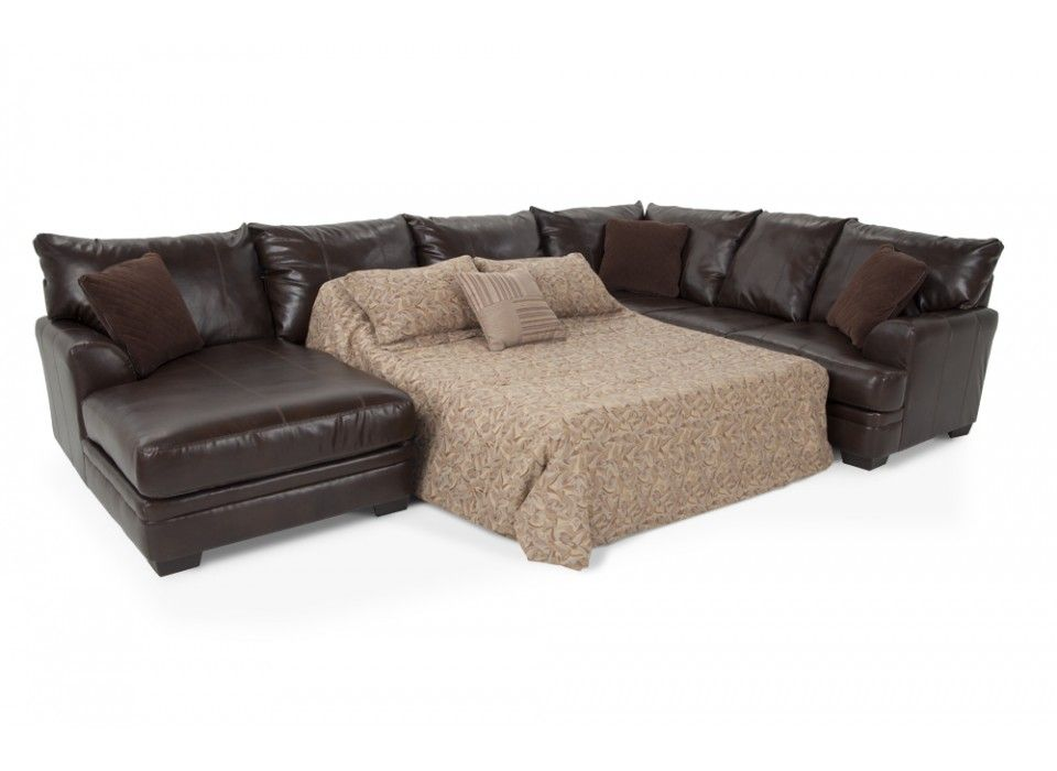 Allure 3 Piece Right Arm Facing Innerspring Sleeper Sectional | Bobu0027s  Discount Furniture