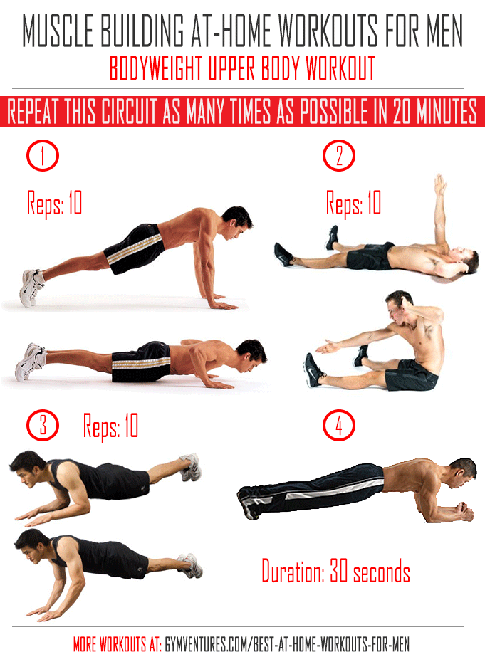 At Home Workouts For Men Bodyweight Upper
