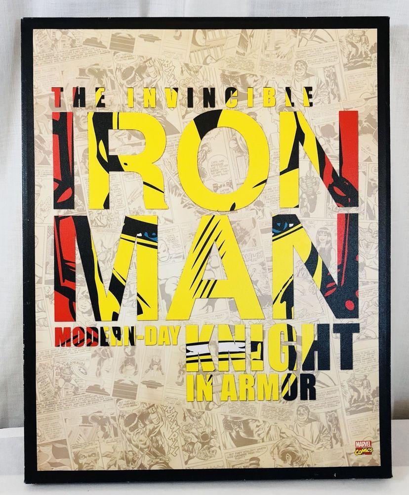 The Invincible Iron Man Retro Comic Book Cover Canvas Wall Art Print ...